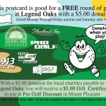 Lowcountry Funsaver Golf Section Postcard Front